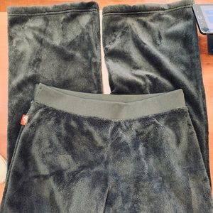 The North Face Pants - North Face Black Furry Fleece Pants